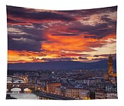 Sunset Over Florence Tapestry