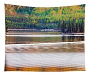 Sunset Reflections On Boreal Forest Lake In Yukon Tapestry