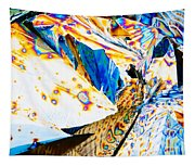 Tartaric Acid Crystals In Polarized Light Tapestry
