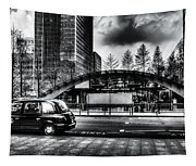 Taxi At Canary Wharf Tapestry