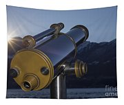 Telescope And Sunrise Tapestry