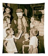 The Famous Clown Emmett Kelly 1956 Tapestry