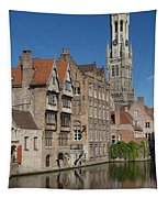 The Historic Center Of Bruges Tapestry