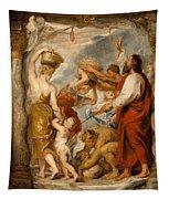The Israelites Gathering Manna In The Desert Tapestry