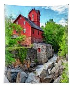 The Old Red Mill Jericho Vermont Tapestry