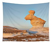 The Rabbit Stone Formation In White Desert Tapestry