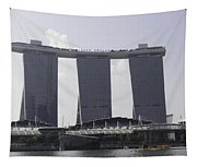 The Towers Of The Iconic Marina Bay Sands In Singapore Tapestry