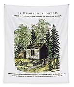 Thoreau Walden, 1875 Tapestry
