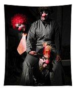 Three Clowns Having Fun Tapestry