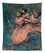 Three Dancers In Red Costume Tapestry