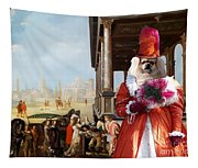 Tibetan Spaniel Art Canvas Print By Nobility Dogs Tapestry