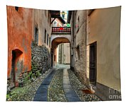 Tight Alley With A Bridge Tapestry