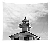 Top Of The New Canal Lighthouse - Bw Tapestry