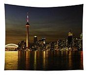 Toronto Evening Sky Line Panorama Tapestry