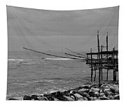 Trabocco On The Coast Of Italy  Tapestry
