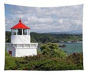 Trinidad Head Light House On The Coast Tapestry
