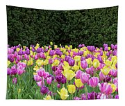 Tulip Flowers In A Garden, Chicago Tapestry