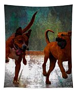 Two Dogs Tapestry