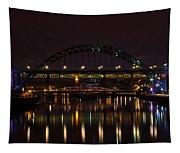 Tyne Bridge At Night Tapestry