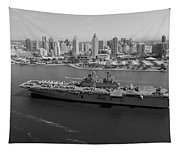 Uss Boxer In San Diego  Tapestry