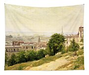 View Of Paris Tapestry