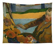 Vincent Van Gogh Painting Sunflowers Tapestry