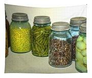 Vintage Kitchen Glass Jar Canning Tapestry