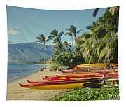 Kenolio Beach Sugar Beach Kihei Maui Hawaii  Tapestry