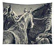 Waiting Horses Tapestry