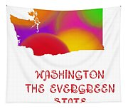 Washington State Map Collection 2 Tapestry
