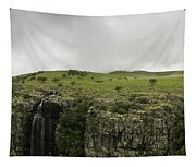 Waterfall Flowing Over The Edge Tapestry