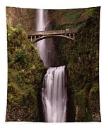 Waterfall In A Forest, Multnomah Falls Tapestry