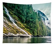 Waterfall Jervis Inlet Tapestry