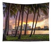 West Palm Beach Skyline Tapestry
