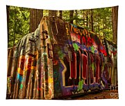 Whistler Train Derailment Box Car Tapestry