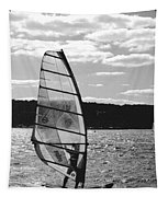 Wind Surfer Bw Tapestry