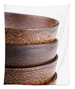Wooden Bowls Isolated Tapestry