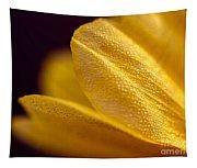 Yellow Flower Macro Tapestry