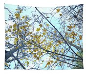 Yellow Leaves Vintage Tapestry