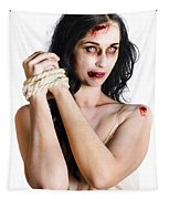 Zombie Tied Up Tapestry