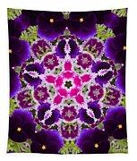 Flower Kaleidoscope Resembling A Mandala Tapestry