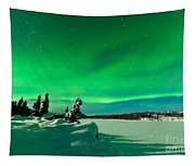 Intense Display Of Northern Lights Aurora Borealis Tapestry