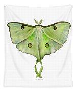 100 Luna Moth Tapestry by Amy Kirkpatrick