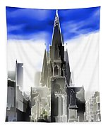 View Of Episcopal Cathedral In Edinburgh Tapestry