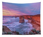 12 Apostles At Sunset Pano Tapestry