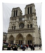 Notre Dame In Paris France Tapestry