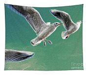 10760 Seagulls In Flight #001 Photo Painting Tapestry