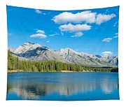 Lake With Mountains In The Background Tapestry