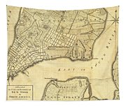 1776 New York City Map Tapestry