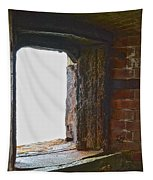 1861 Cannon Turret Fort Point San Francisco Bay Tapestry